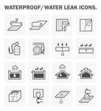 Sistemas de impermeabilización del icono Imagenes de archivo