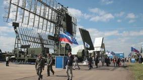 Sistemas de la defensa aérea almacen de metraje de vídeo