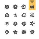 Sistemas de los iconos de la flor stock de ilustración