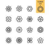 Sistemas de los iconos de la flor libre illustration