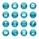 Sistemas de los iconos de la oficina Fotografía de archivo libre de regalías
