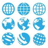 9 sistemas de los iconos de los mundos Imágenes de archivo libres de regalías