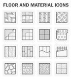 Sistemas de los iconos del piso libre illustration