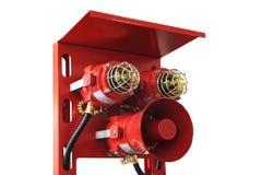 Sistemas de proteção contra incêndios fotografia de stock