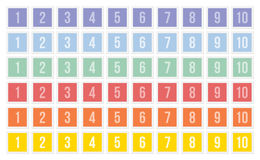 Sistemas de sellos con números Imagen de archivo