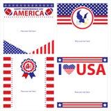 Sistemas de tarjeta americanos de la plantilla del Día de la Independencia ilustración del vector