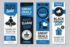 Sistemas de tarjeta negros de la venta de viernes Imágenes de archivo libres de regalías