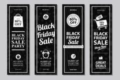 Sistemas de tarjeta negros de la venta de viernes Imagenes de archivo