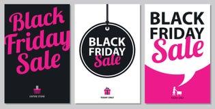 Sistemas de tarjeta negros de la venta de viernes Imagen de archivo