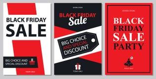 Sistemas de tarjeta negros de la venta de viernes Fotografía de archivo libre de regalías