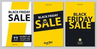 Sistemas de tarjeta negros de la venta de viernes Fotografía de archivo