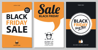 Sistemas de tarjeta negros de la venta de viernes Fotos de archivo