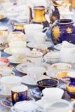 Sistemas de tazas de China del vintage Fotografía de archivo libre de regalías