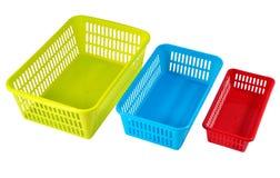 Sistemas del almacenamiento del hogar para el uso económico, plasti multicolor Fotografía de archivo