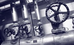Sistemas del gas y de petróleo de la industria Foto de archivo