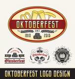 Sistemas del logotipo de la celebración de Oktoberfest Foto de archivo