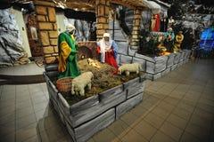 Sistemas del pesebre de la natividad de la Navidad foto de archivo