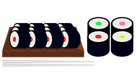 Sistemas del sushi ilustración del vector