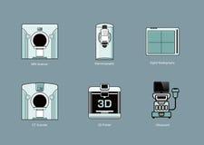Sistemas médicos del icono de la modalidad stock de ilustración