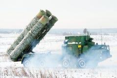 Sistemas S-300 de la defensa aérea Fotografía de archivo