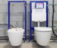 Sistemi dell'installazione per le toilette ed i bidet Fotografia Stock Libera da Diritti