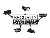 Sistemi di sicurezza dell'elemento di progettazione di logo Fotografie Stock