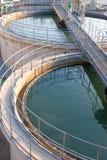 Sistemi di trattamento di acqua di Wast Fotografia Stock