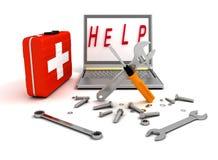 Sistemi diagnostici e riparazione del computer illustrazione di stock