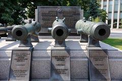 Sistemi i cannoni dello XVIII secolo - la gloria delle armi russe (Cremlino di Mosca) Fotografia Stock