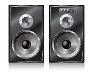 Sistemi stereo dell'altoparlante. Immagini Stock