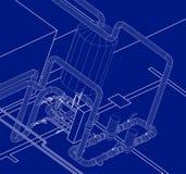 Sistemy Hydraulik des Entwurfs Stockfoto