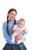 Sister and baby Royalty Free Stock Images