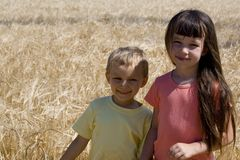 Sister and brother. Children in ceral Stock Photography