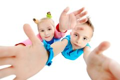 Sister and brother Royalty Free Stock Images