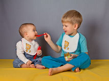 The sister and the brother. Royalty Free Stock Images