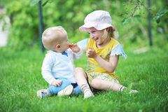 Sister and brother Royalty Free Stock Image