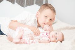 Sister and brother Stock Photography