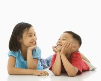 Sister and brother. Royalty Free Stock Photo