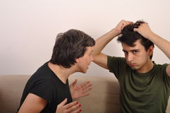 Sister and brother arguing Royalty Free Stock Images
