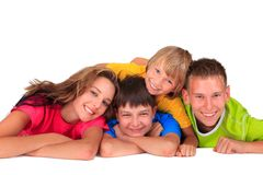 Sister and brothers having fun Stock Photo