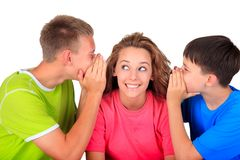 Sister and brothers having fun Stock Images