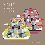 Sister cities landscape Royalty Free Stock Photo