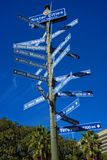 Sister cities of Los Angeles Royalty Free Stock Images