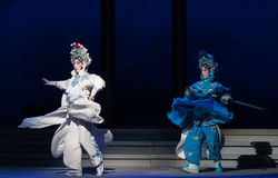 """Sister concentric -The sixth act water overflows golden hill-Kunqu Opera""""Madame White Snake"""" Royalty Free Stock Image"""