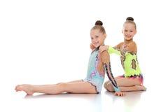 Sister gymnast Royalty Free Stock Image