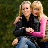 Sister hug Royalty Free Stock Image