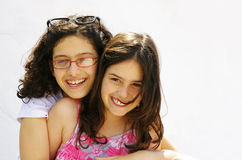 Sister Hug Stock Photos