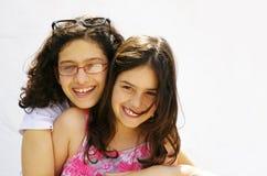 Sister Hug stock photos