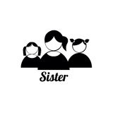 Sister icons Stock Photos