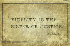 Sister of justice Horace royalty free stock photos